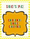 Cinco de Mayo Sentence Corrections: Punctuation Review Worksheet