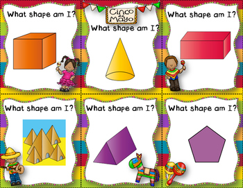 Cinco de Mayo Shapes - 2D and 3D