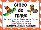 Cinco de Mayo Smartboard Fun - Spanish Days, Months, Numbers and Skip Counting