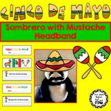 Cinco de Mayo Sombrero with Mustache Headband