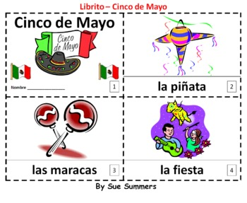 Spanish Cinco de Mayo 2 Emergent Reader Booklets