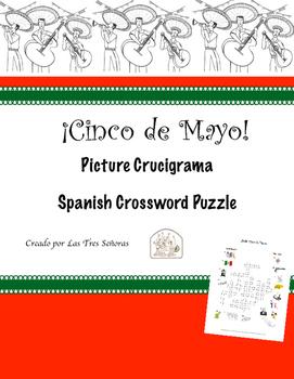 Cinco de Mayo Spanish Crossword Puzzle Crucigrama