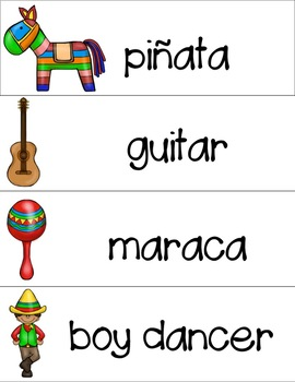 Cinco de Mayo Spanish/English Printables and Activities