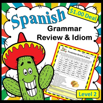 Spanish Cinco de Mayo Grammar Review & Idiom Dollar Deal