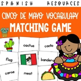 Cinco de Mayo Spanish Vocabulary Matching Card Game