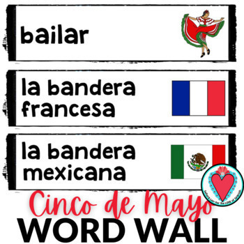 Cinco de Mayo Spanish Word Wall #TeachMoreSpanish