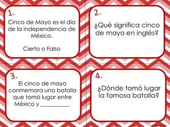 Cinco de Mayo Spanish and English Task Card Bundle