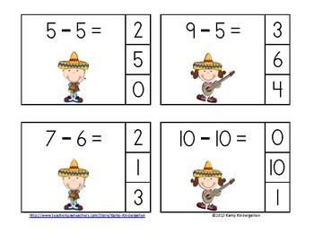 Cinco de Mayo Subtraction Math Centers
