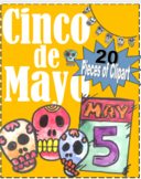 Cinco de Mayo, Sugar Skulls, Holiday, Clipart, Images, Wat