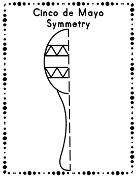 FREE Cinco de Mayo Symmetry Drawing Activity for Art and Math SAMPLE