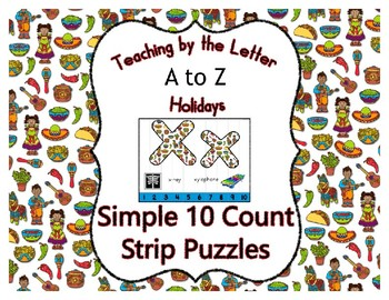 Cinco de Mayo ~ Teaching by the Letter Holiday Strip Number Puzzles