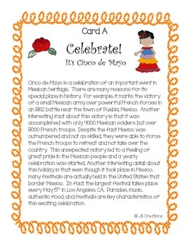 Cinco de Mayo Text Structure Group Scoot Game (3rd, 4th, 5th grade)