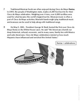 Cinco de Mayo Informational Text Test Prep Passage {English & Spanish Versions}