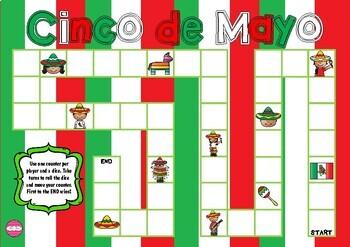 Cinco de Mayo Themed Game Board