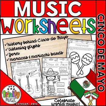 Cinco de Mayo Themed Music Worksheets