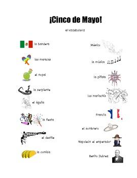 Cinco de Mayo Vocabulary Board Game- Spanish