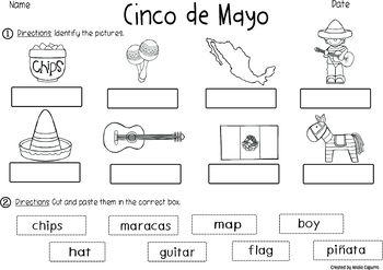 Cinco de Mayo- Vocabulary Pack