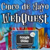 Cinco de Mayo Webquest - NO PREP - Editable in Google Slides!