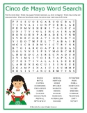 Cinco de Mayo Word Search Puzzle