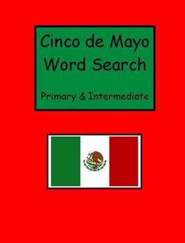 Cinco de Mayo Word Searches - Primary and Intermediate