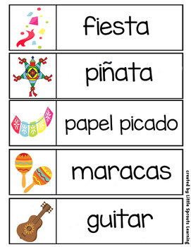 Cinco de Mayo Word Wall (24 cards - two sizes)