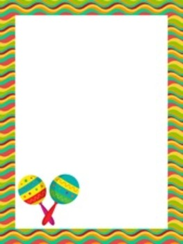 Cinco de Mayo Writing Paper - 3 Styles - ( 7 1/2 x 10 )