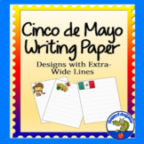 Cinco de Mayo Writing Paper Stationery for Primary with Wide Lines - 24 Designs