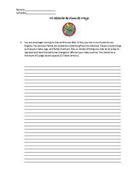 Cinco de Mayo Writing Prompt