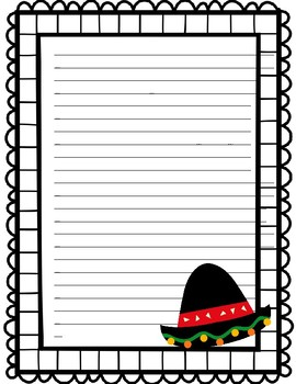 Cinco de Mayo Writting Pages