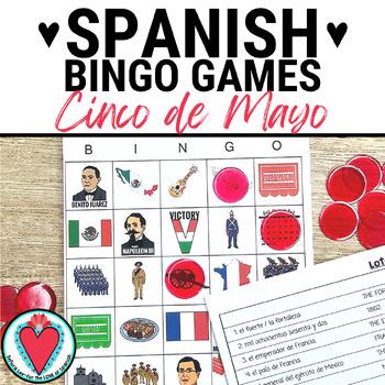 Cinco de Mayo and the Battle of Puebla Bingo - Spanish/Eng