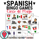Spanish Cinco de Mayo Bingo - Spanish Games for Google Classroom