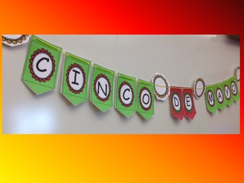 Cinco de Mayo banner- 2 color options!