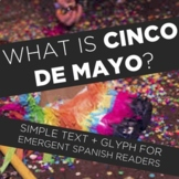 Cinco de Mayo basic reading and glyph in Spanish for emergent readers