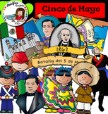 Cinco de Mayo clip art - Color and black/white