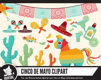 Cinco de Mayo clipart — Mexico themed clip art set — taco tuesday fiesta