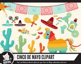 Cinco de Mayo clipart — Mexico themed clip art set — taco