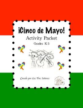 Cinco de Mayo for Grades K-3 Activity Packet with 32 BINGO cards