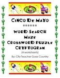 Cinco de Mayo fun worksheets (word search, crossword puzzle, etc)
