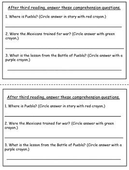 Cinco de Mayo nonfiction book with CLOSE