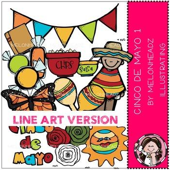Melonheadz: Cinco de Mayo clip art Part 1 - LINE ART
