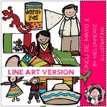 Melonheadz: Cinco de Mayo clip art Part 2 - LINE ART