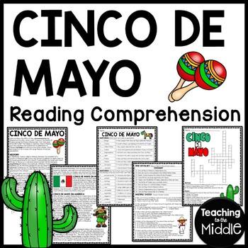 Cinco de Mayo reading comprehension worksheet, May, Mexico, Puebla, Mexican War