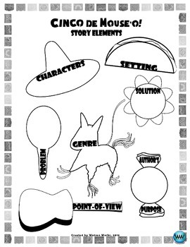 Cinco de Mouse-o!  A Cinco de Mayo Story Elements Activity