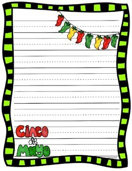 CINCO DE MAYO WRITING SHEETS