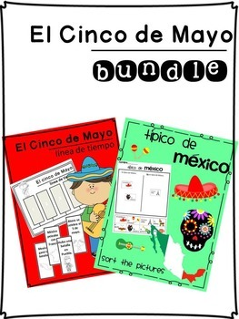 Cinco de mayo Bundle {Spanish version} Timeline and Sorting page