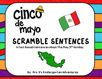 Cinco de Mayo Sentence Scrambler Freebie!