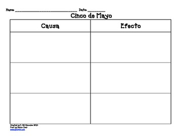 Cinco de mayo Spanish worksheets