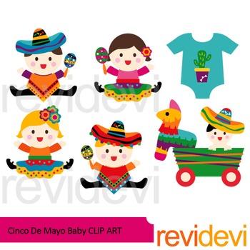 Cinco de mayo baby clip art