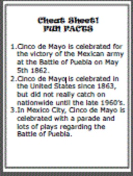"Cinco de mayo celebraciones(Mobile)""Cheat Sheet Included"""
