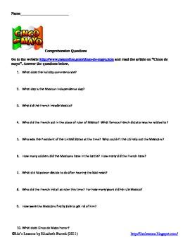 Cinco de mayo vocabulary, activities, and bulletin board set